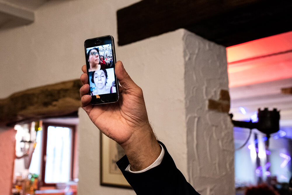 videocall, huwelijk, destination