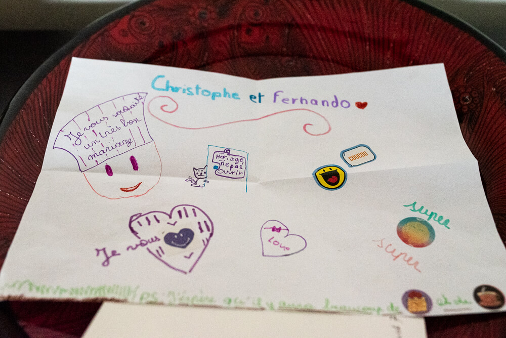 homohuwelijk, fotograaf, tekening kind